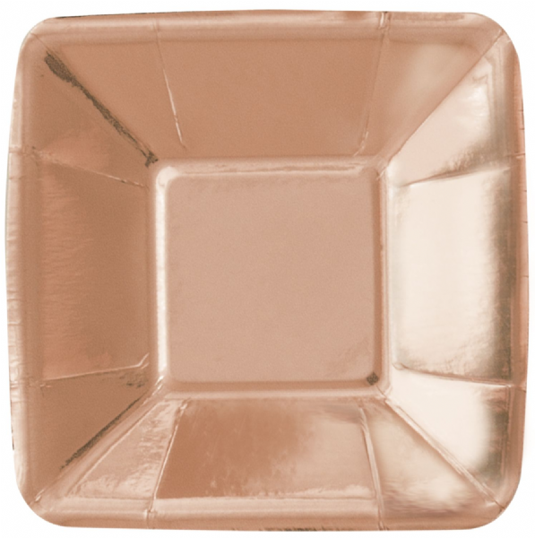 Rose Gold Small Square Plates (8pk)